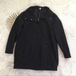 📍PRICE FIRM📍H&M Animal Print Wool Blend Overcoat